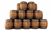 Stack Of Barrels