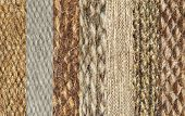 Simples Of Camel Wool Fabric Texture Collage As A Background.