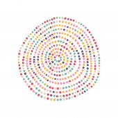Color dots circle