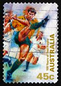 Postage Stamp Australia 1999 Kicking Ball, Test Rugby