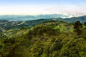 stock photo of luzon  - Scenic view of Baguio city and airport in the Cordillera Mountains of Northern Luzon Philippine Islands - JPG