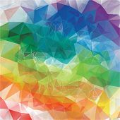 Abstract colorful background from triangles
