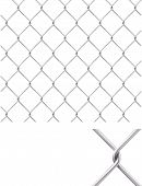 picture of chain link fence  - Chain Fence isolated - JPG