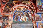 Wall painting at Rila Monastery church