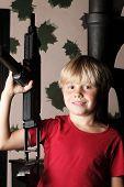 Boy kid child playing in war