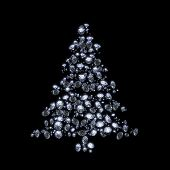 Diamond Xmas tree on black