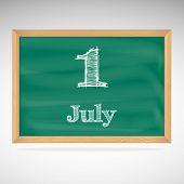 July 1, day calendar, school board, date