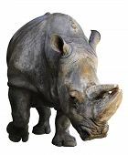image of rhino  - Rhino isolated over white - JPG