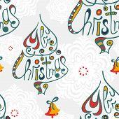 Merry christmas congratulation seamless pattern