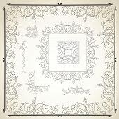 Floral frame and design elements