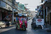 Tuk tuk cruising in Hua Hin
