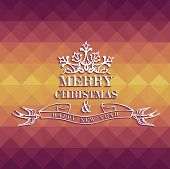 Merry Christmas Colorful Geometric Greeting Card