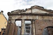 Portico Di Ottavia In Rome