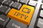 IPTV on Orange Keyboard Button.