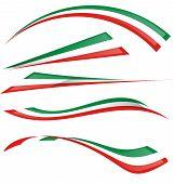 italienische Flagge Satz