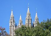 stock photo of chapels  - The Chapel spires at Princeton University in New Jersey - JPG