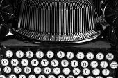 stock photo of qwerty  - Antique Typewriter X  - JPG