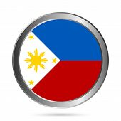 Philippines Flag Button.