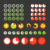 Different circle charts collection. Infographic elements