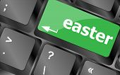 Easter Text Button On Keyboard Keys