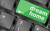 pic of keypad  - Computer keyboard with dream home key  - JPG