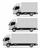 picture of truck-cabin  - truck cargo set three models - JPG