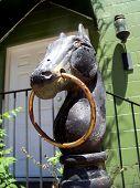Horse Head street statue