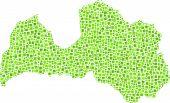 Isolated map of Latvia - Europe -