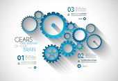 Infographic Modern Style Concept background for your presentations or business brochures.