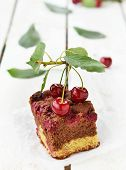 foto of cherry pie  - homemade cherry pie with sweet cherry berries - JPG