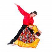 foto of gypsy  - Gypsy flamenco dancer couple - JPG