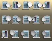 Satellite Dish Window