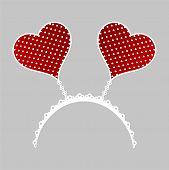 Polka dot hearts crown