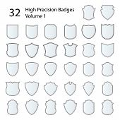 High Precision Badges Set