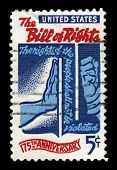 Us Postage Stamp Celebrating The Bill Of Rights
