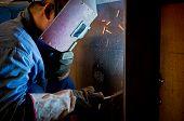 Work a welding workers in factories