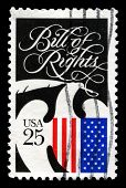The Bill Of Rights Us Postage Stamp