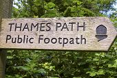 Thames Path Marker