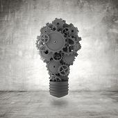Bulb With Gears And Cogs