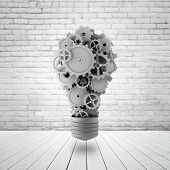 Lamp With Gears