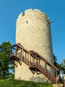 Tower, part of defensive system in Kazimierz Dolny town over the Vistula river, Poland