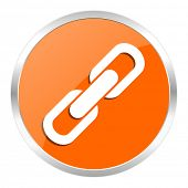 link orange glossy icon