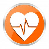 pulse orange glossy icon