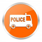 police orange glossy icon