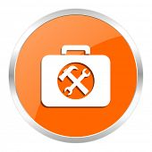 toolkit orange glossy icon