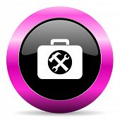 toolkit pink glossy icon