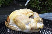 Whole Turkey on Charcoal Grill