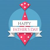 Creative poster, banner or flyer design with necktie and stylish text Happy Father's Day  on blue ba