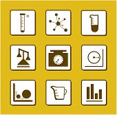 Science-Chemistry-Mathematics Icons