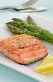 Grilled Coho Salmon Filet With Asparagus